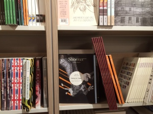 On the shelf at Foyles, following a little manual readjustment.